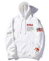 Толстовка NASA x Heron Preston с логотипом мужская женская унисекс кофта с капюшоном