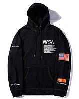 Толстовка NASA x Heron Preston с логотипом мужская женская унисекс худи с капюшоном