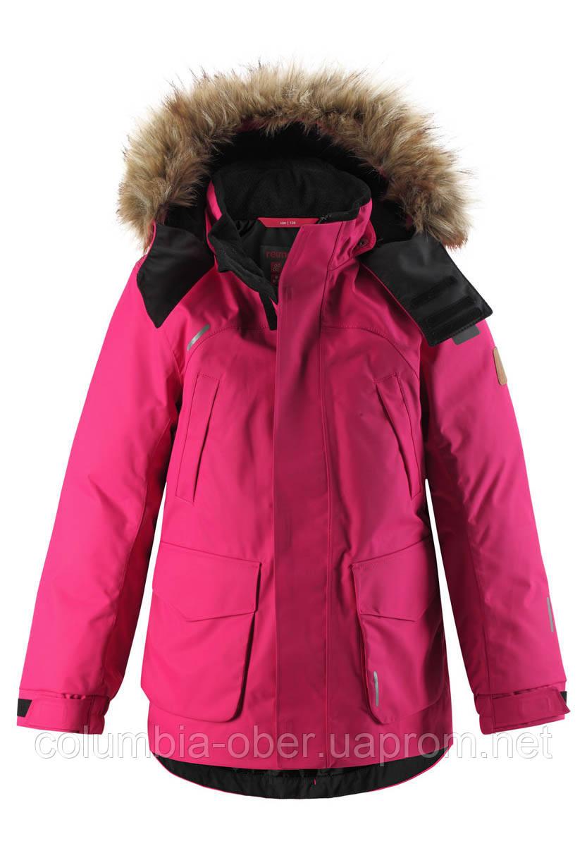 Зимняя куртка - пуховик для девочки Reimatec Serkku 531354.9-4650. Размеры 104 - 164.