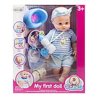 "Пупс музыкальный ""My First Doll"" LEBAOLIN с аксессуарами"