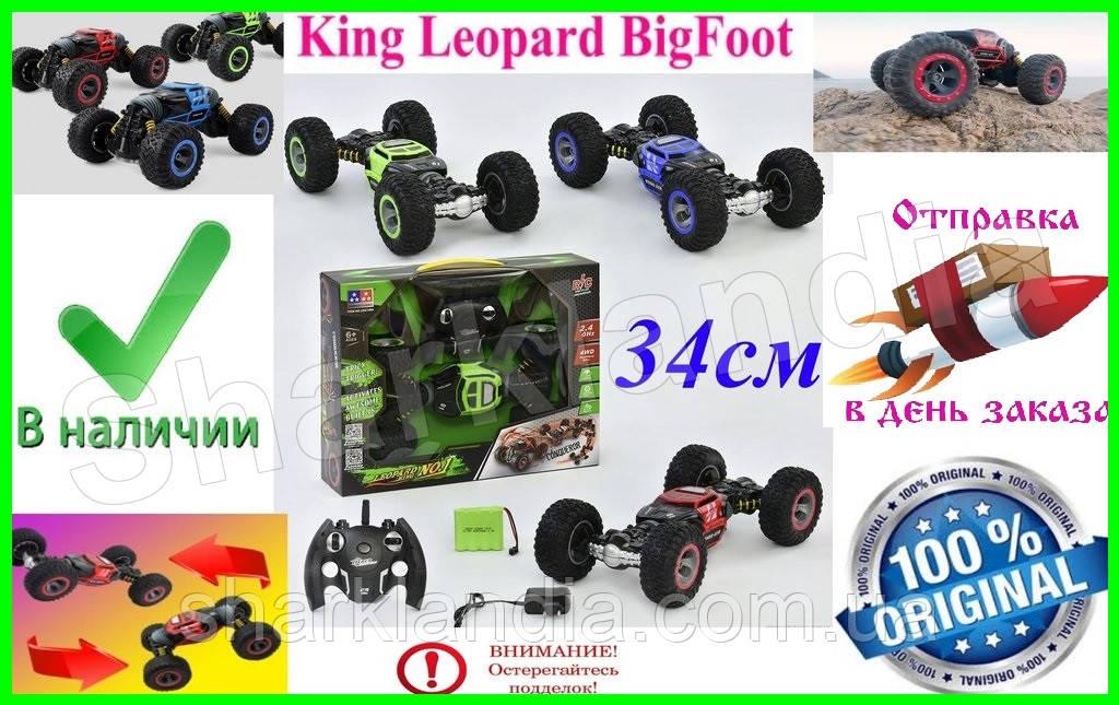 34см Hyper Leopard King Big Foot Машинка Бигфут Перевертыш Джип Трансформер