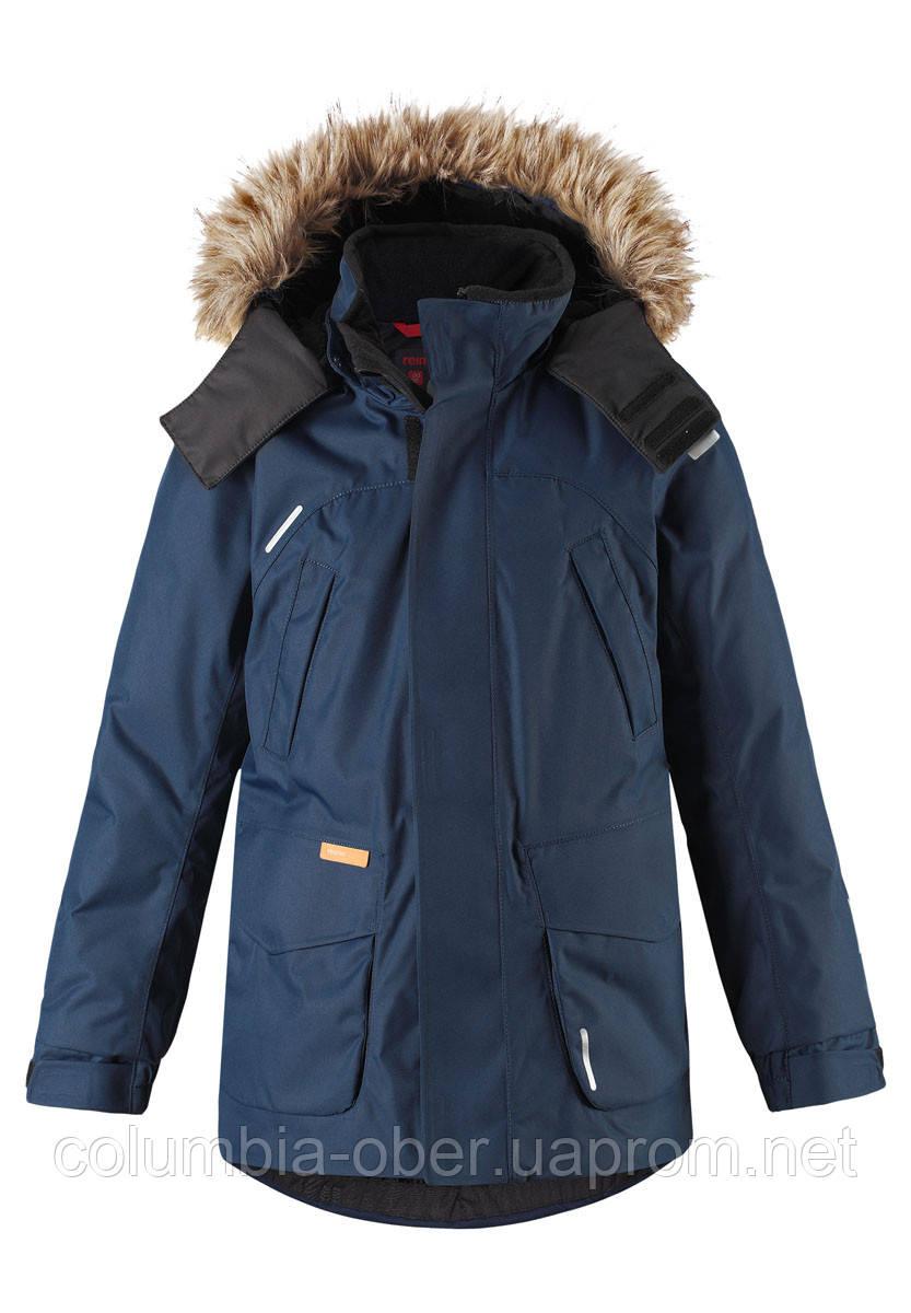Зимняя куртка - пуховик для мальчика Reimatec Serkku 531354.9-6980. Размеры 104 - 164.