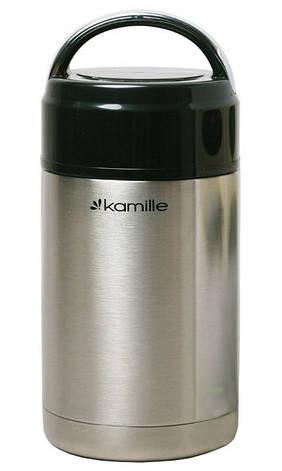 Термос для еды Kamille KM-2142 1 л Нержавеющая сталь, фото 2