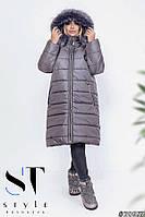Зимняя женская куртка 60 р серый