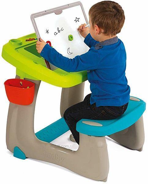 Детская парта с доской для рисования Smoby 420103