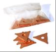 Трикутники зварювальні з мідним покриттям 20 шт