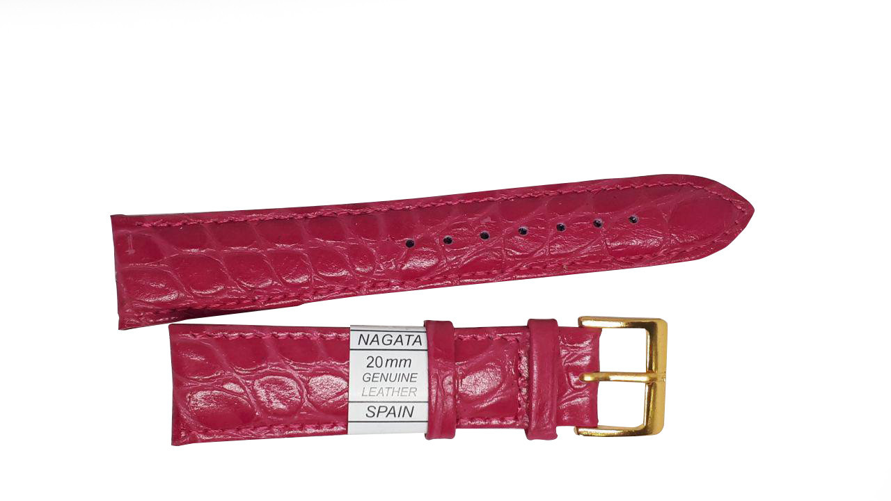 "Ремешок ""Nagata"" 20mm ярко-розовый опт"