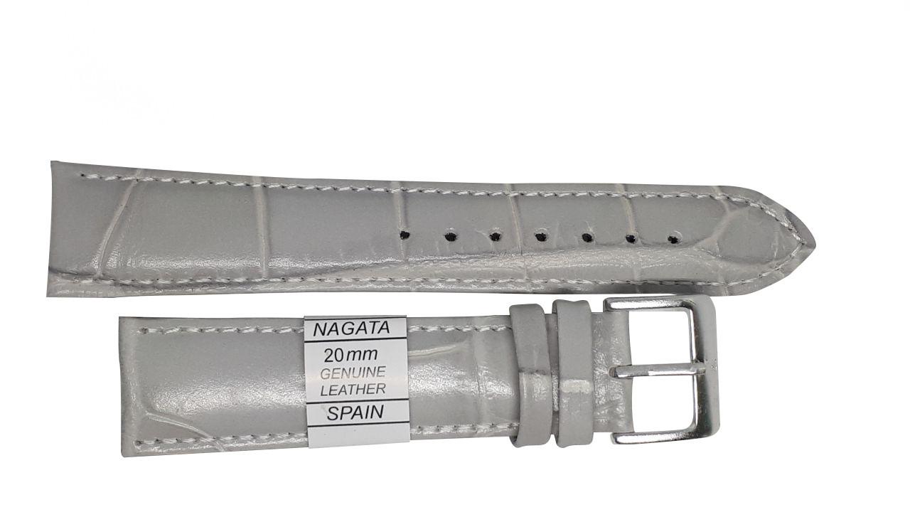 """Ремешок """"Nagata"""" 20mm светло-серый опт"""