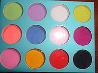 Цветной пигмент Global в коробке 12 разных матовых цветов