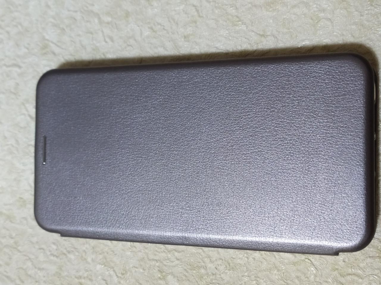 Чехол- книга Premium для Xiaomi MI 9  (серебро)