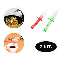 Набор пластиковых дозаторов - пробок для бутылок с крышкой (2 штуки в комплекте)