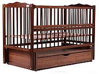 Кровать Babyroom Веселка маятник, ящик, откидной бок DVMYO-3  бук орех, фото 1