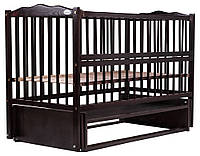 Кровать Babyroom Веселка маятник, откидной бок DVMO-2  бук венге, фото 1