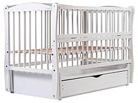 Кровать Babyroom Еліт маятник, ящик, откидной бок DEMYO-5  бук белый, фото 1