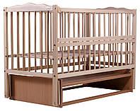 Кровать Babyroom Веселка маятник, откидной бок DVMO-2  бук светлый (натуральный), фото 1
