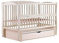 Кровать Babyroom Еліт маятник, ящик, откидной бок DEMYO-5  бук слоновая кость, фото 1