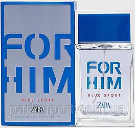 ZARA  FOR HIM BLUE SPORT 100  туалетная вода мужская (оригинал подлинник Испания)