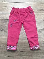 Катоновые брюки для девочек. 2 года.