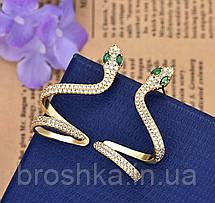 Позолоченная монокафа змея ювелирная бижутерия, фото 2