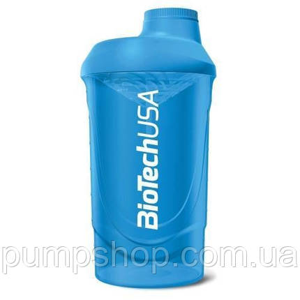 Шейкер Biotech USA Wave 600 мл голубой, фото 2