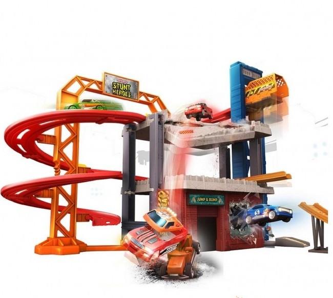 Игровой набор детский паркинг 3 уровневый гараж Majorette 2058014