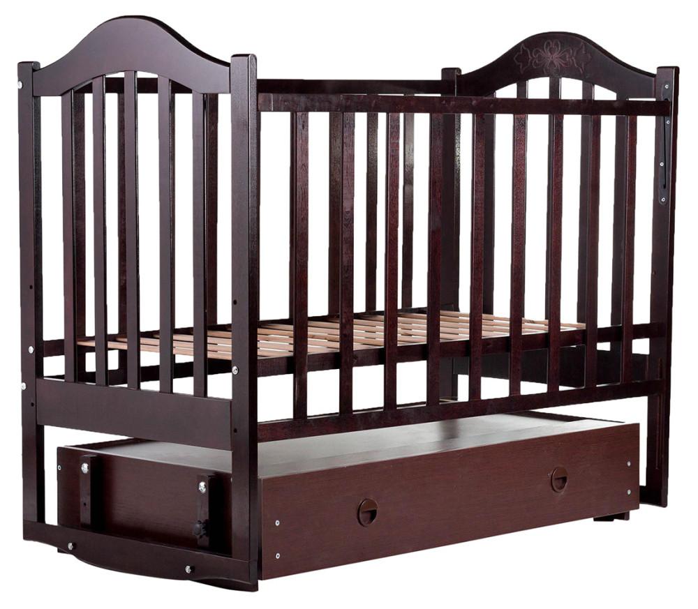 Кровать Babyroom Дина D303 маятник, ящик  венге