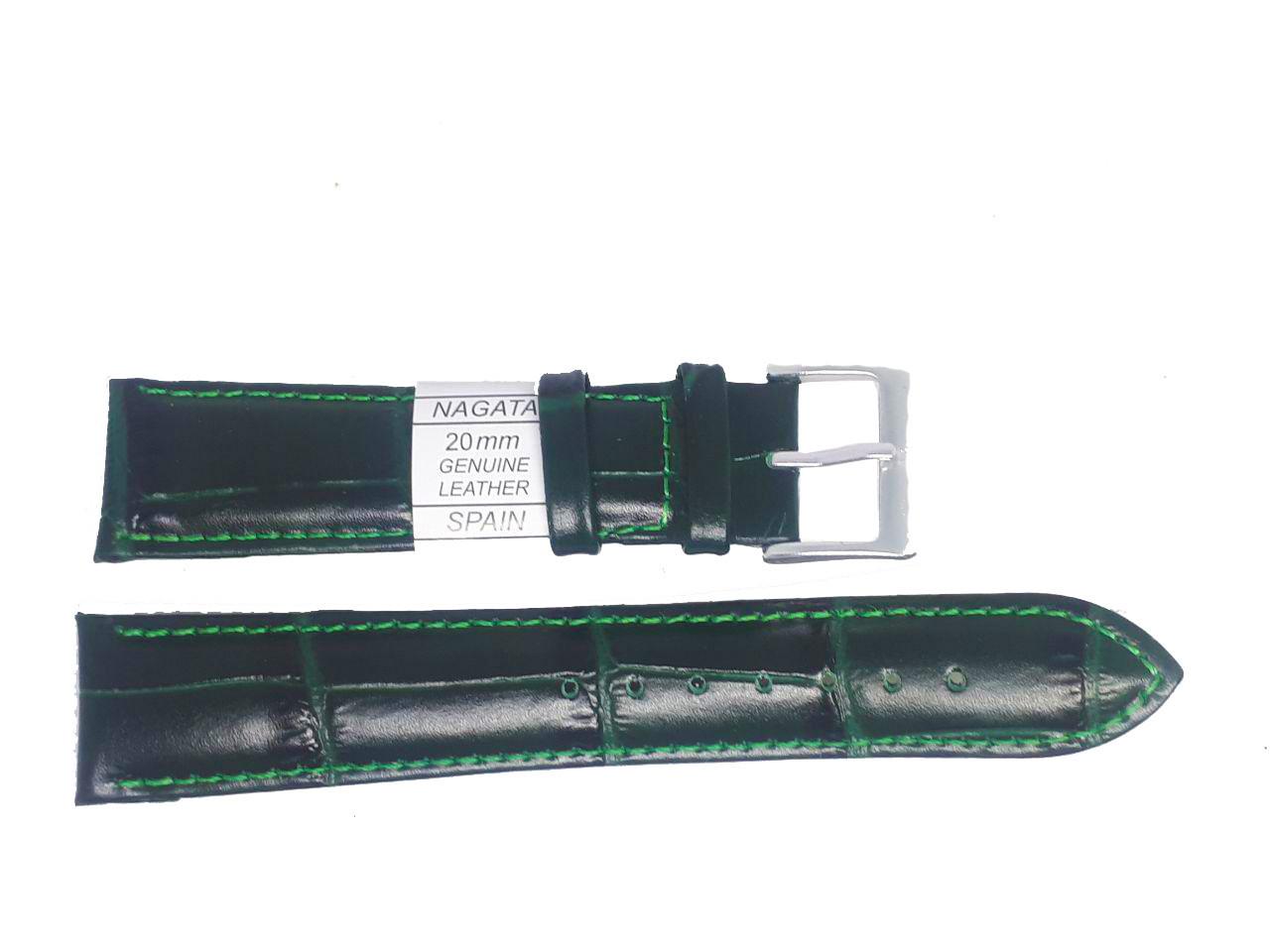 "Ремешок ""Nagata"" 20mm темно-зеленый опт"