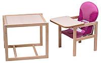 Стульчик- трансформер Babyroom Карапуз-100 eko МДФ столешница  малина-розовый