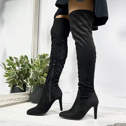 Сапоги демисезонные женские на каблуке, фото 2