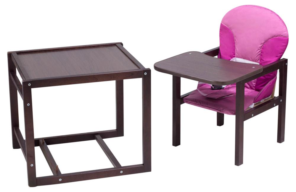 Стульчик- трансформер Babyroom Карапуз-120 тонированный МДФ столешница  малина-розовый