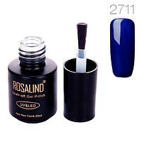 Гель-лак для ногтей маникюра 7мл Rosalind, шеллак, 2711 темно-синий