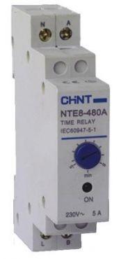 Реле времени (задержка на отключение) NTE8-480A 0,5-8мин 1NO 230V