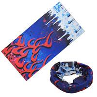 Бафф бандана-трансформер, шарф из микрофибры, огонь и лед