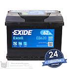 Аккумулятор автомобильный EXIDE Excell 6CT 62Ah, пусковой ток 540А [–|+] (EB620), фото 2