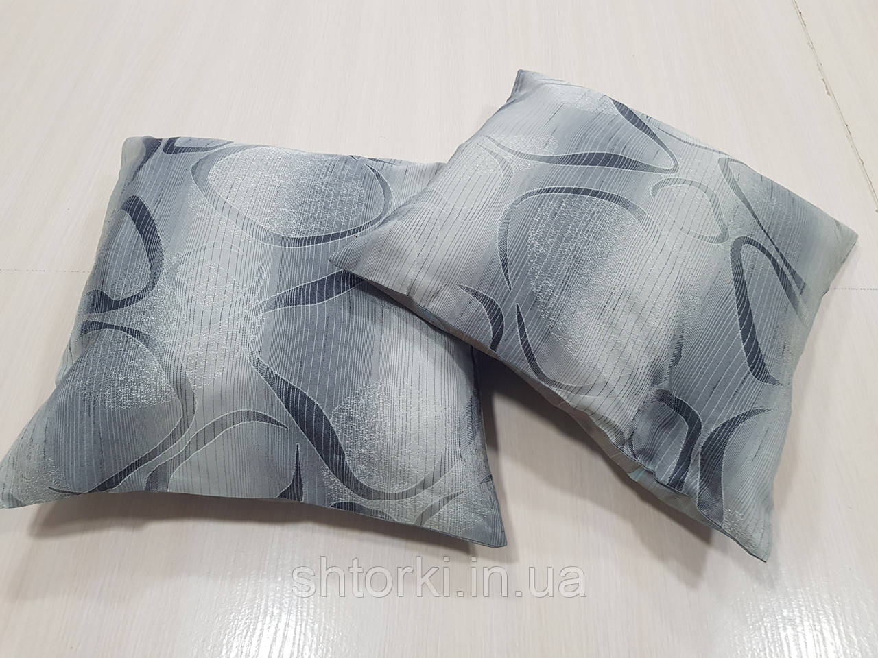 Комплект подушек Абстракция овалы серые 2шт