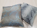 Комплект подушек Абстракция овалы серые 2шт, фото 4