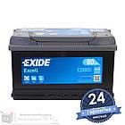 Аккумулятор автомобильный EXIDE Excell 6CT 80Ah, пусковой ток 640А [–|+] (EB800), фото 2