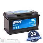 Аккумулятор автомобильный EXIDE Excell 6CT 80Ah, пусковой ток 700А [–|+] (EB802), фото 3