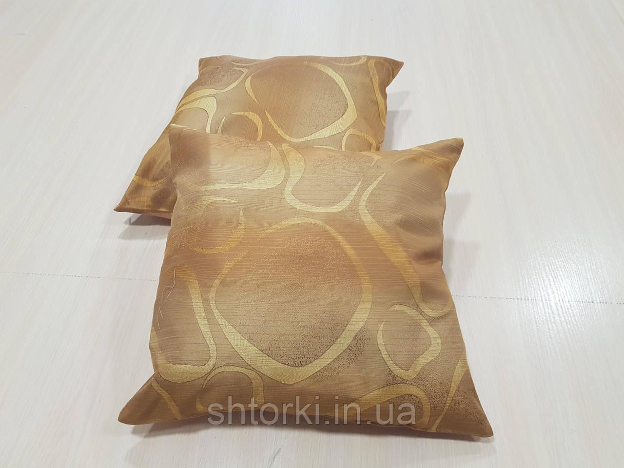 Комплект подушек Абстракция овалы оранжевые и розовые 2шт