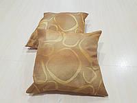 Комплект подушек Абстракция овалы оранжевые и розовые 2шт, фото 1