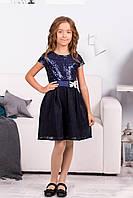 Нарядное платье детское с паетками