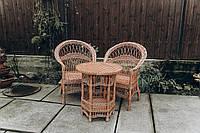 Кресла и стол плетеные из лозы   кресла плетеные из лозы   плетеные 2 кресла стол