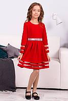 Детское платья для девочки ярко красного цвета