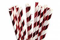 Паперові трубочки для напоїв 25 шт
