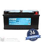 Аккумулятор автомобильный EXIDE EFB 6CT 105Ah, пусковой ток 950А [–|+] (EL1050), фото 2
