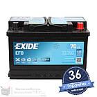 Аккумулятор автомобильный EXIDE EFB 6CT 70Ah, пусковой ток 720А [–|+] (EL700), фото 2