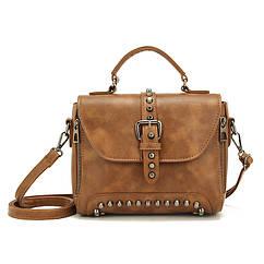 Стильная женская сумка классического стиля, коричневая KA-3