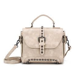 Стильная женская сумка классического стиля, бежевая KA-5