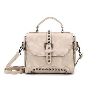 Стильна жіноча сумка класичного стилю, бежева KA-5