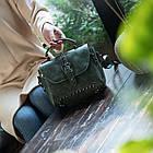 Стильная женская сумка классического стиля, зеленая KA-6, фото 4